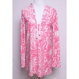 Lilly Pulitzer Megan Cover Up Hooded Terry Cloth